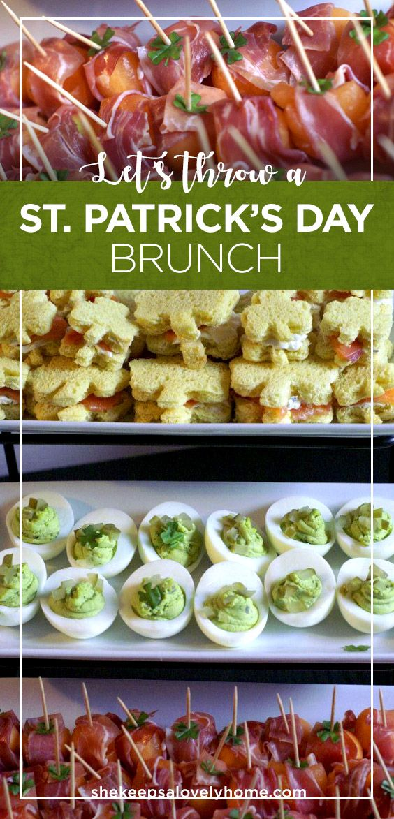 A St. Patrick's Day Brunch calls for some beautiful food, lots of green and plenty of lucky clovers to garnish the treats.