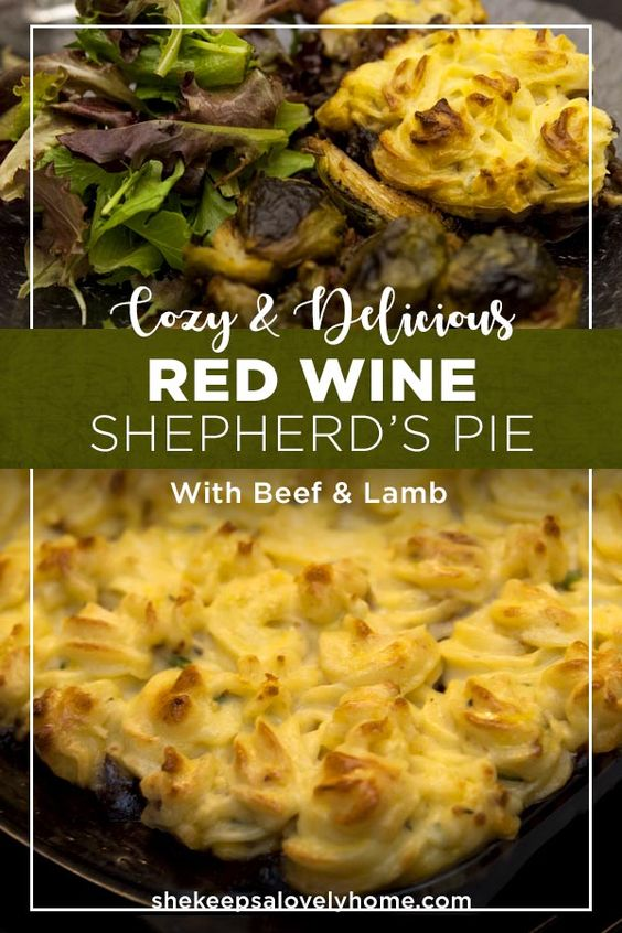 This red wine shepherd's pie is the perfect Fall or Winter dinner party meal.