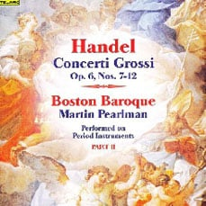 The album cover of Handel's Concerti Grossi