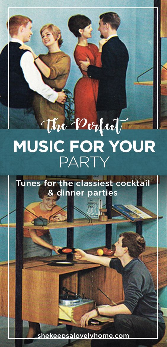 Music is one of the most important aspects of any party, but choosing the best sound can be a little tricky. Here are some stations for every classy occasion. #partymusic, #music, #partysongs, #cocktailparty