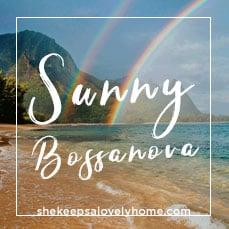Spotify playlist cover for Sunny Bossanova