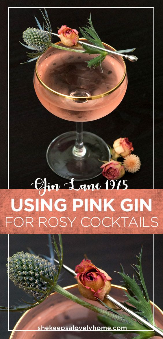 Pink gin adds a feminine hue to your gimlets and a flavorful note to your signature cocktails. #cocktails, #gin, #pink