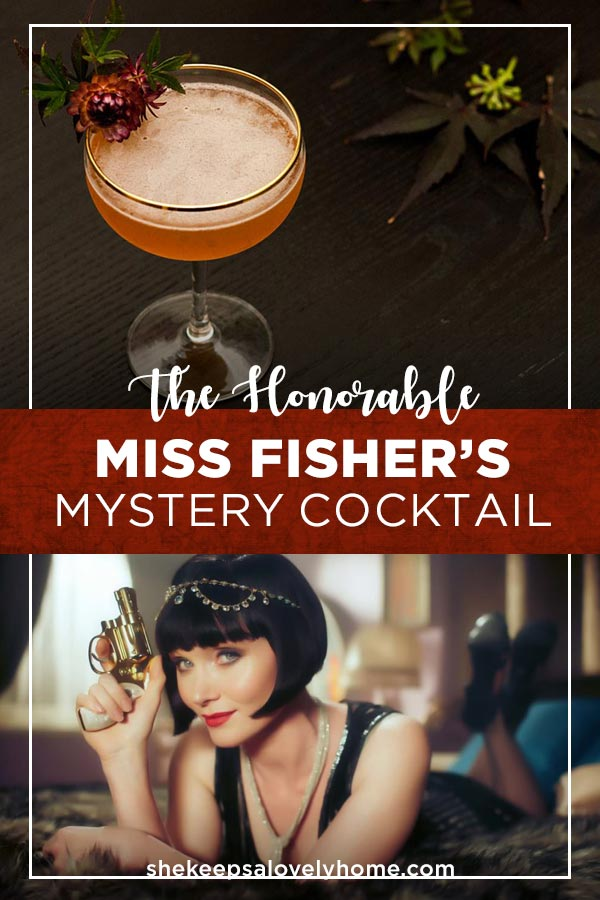 Want to make a delicious whisky cocktail with a dash of orange, lemon, strawberry, maple and mystery? This Miss Fisher's Mystery cocktail is perfect for a misty, moonlit Autumn's eve. #missfisher, #1920s, #1920srecipe, #cocktails