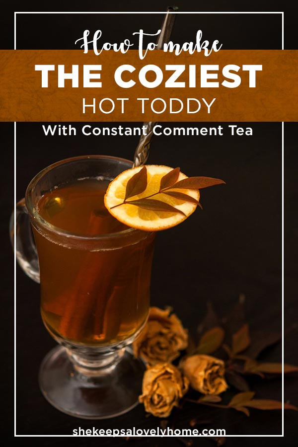 This Hot Toddy will warm your soul and sooth your sniffly little nose. #cocktails, #hottoddy, #orange, #cocktailrecipe