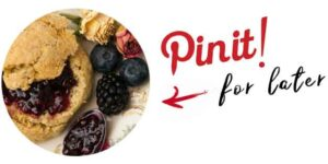 """A scone with a title that says """"Pin it for later."""""""