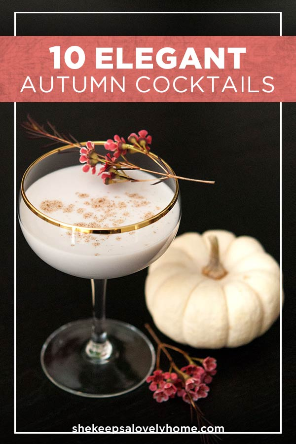 I've gathered 10 of my very favorite Autumn, Halloween, Thanksgiving, perfectly cozy, elegantly spooky, delightfully seasonal cocktails for your most beautiful Fall cocktail parties! #coktails, #halloweencocktails, #halloween, #cocktailrecipes, #autumnrecipes, #fallrecipes, #halloween, #thanksgiving