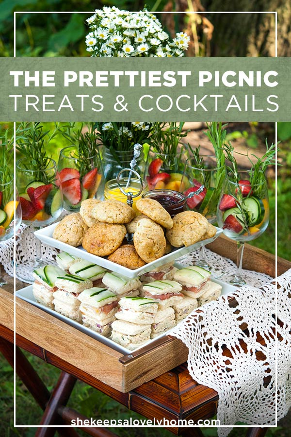If you're looking for some extra special picnic ideas, just look what you can create with a few daisies and a lovely picnic treat table! #picnic, #prettypicnic, #picnicideas, #scones, #teasandwiches, #teaparty, #tea, #bridalshower, #bridalpicnic, #cocktails, #cocktail