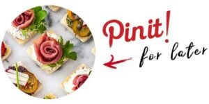 """Canapés with a title that says """"Pin it for later."""""""