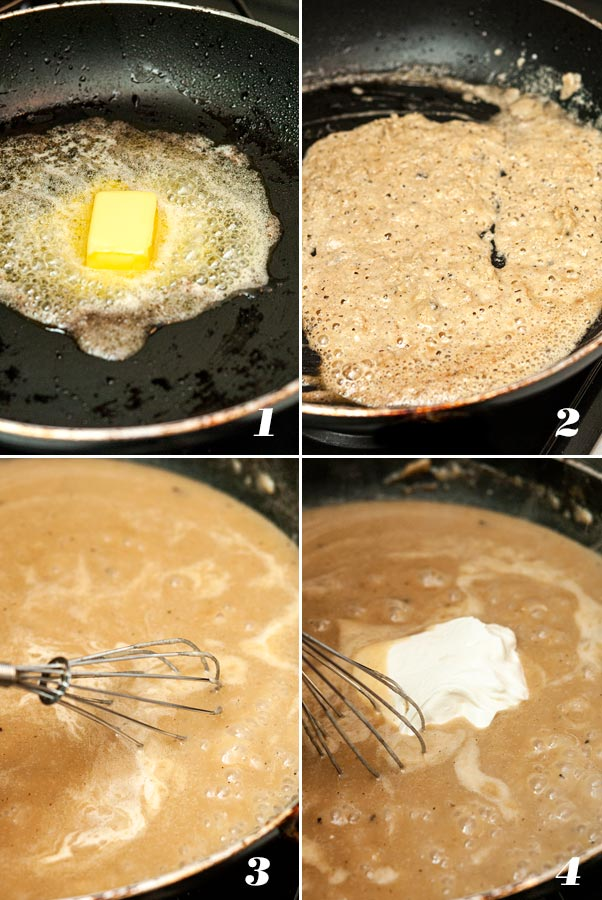 A step by step process showing how to make Swedish meatball gravy.