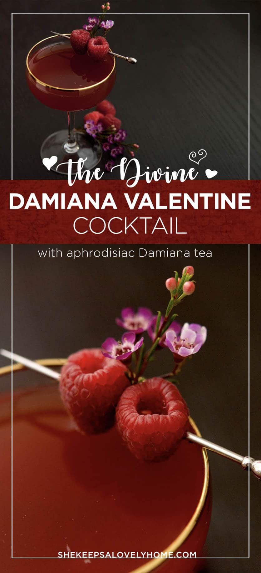 If you're looking for a Valentines Day cocktail to really put you in the mood, this Damiana Valentine tea and sake cocktail is a divine Valentine aphrodisiac.
